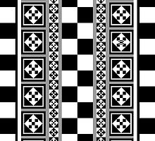Portugese Patterns Black, Grey & White case by walstraasart