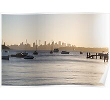 Early evening over Sydney Poster