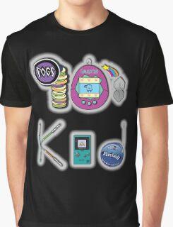 90's Kid in Midnight Black Graphic T-Shirt