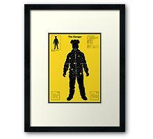 The Danger - Yellow Framed Print