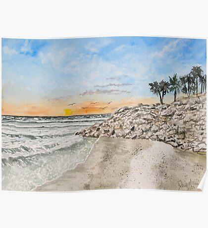 Bradenton beach Florida seascape print Poster