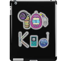 90's Kid in Midnight Black iPad Case/Skin