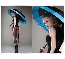 Umbrella & Girl Poster