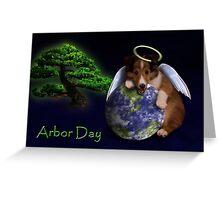 Arbor Day Angel Sheltie Greeting Card