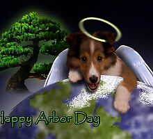 Happy Arbor Day Angel Sheltie by jkartlife