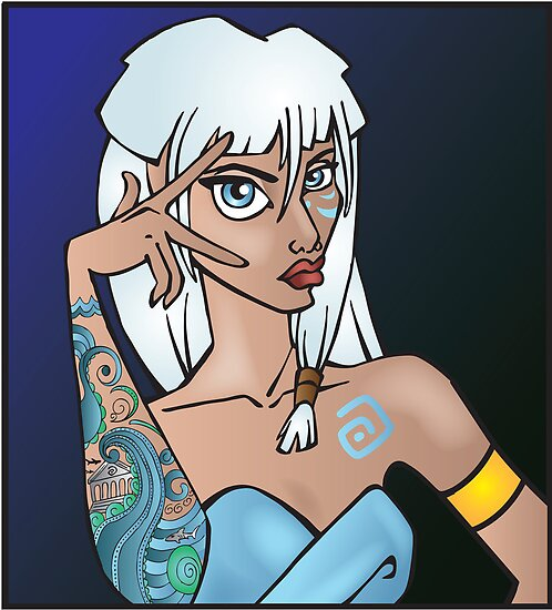 Disney Princesses with attitude - Kida by Lauren Eldridge-Murray