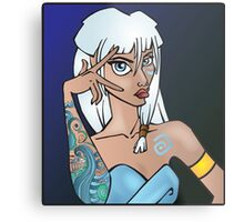 Disney Princesses with attitude - Kida Metal Print