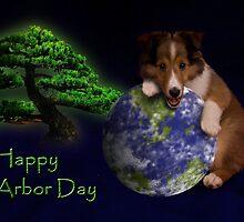 Happy Arbor Day Sheltie Puppy by jkartlife