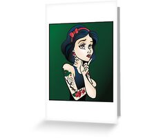 Disney Princesses with attitude - Snow White Greeting Card