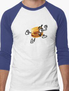 I Run For Pancakes! (Design #2 - WHITE)  Men's Baseball ¾ T-Shirt