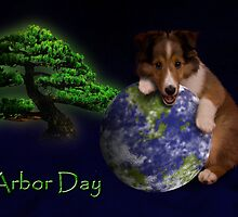 Arbor Day Sheltie Puppy by jkartlife