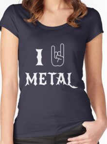 I Love Metal Music Women's Fitted Scoop T-Shirt