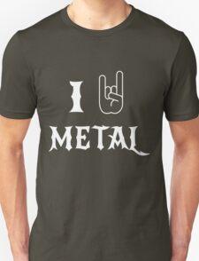 I Love Metal Music Unisex T-Shirt