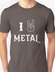 I Love Metal Music Unisex T-Shirt