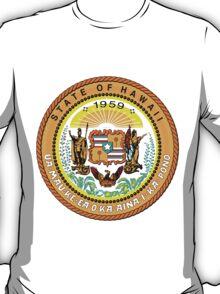 Sunset Hawaii | State Seal | SteezeFactory.com T-Shirt