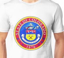 Colorado | State Seal | SteezeFactory.com Unisex T-Shirt