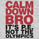 Calm Down Bro it's PE by David Ayala