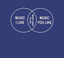 Music you like, Music I like, Music I used to like venn diagram Unisex T-Shirt
