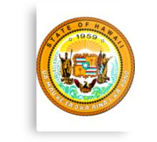 Sunset Hawaii | State Seal | SteezeFactory.com Metal Print