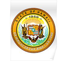 Sunset Hawaii | State Seal | SteezeFactory.com Poster