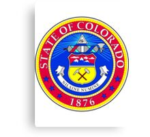 Colorado | State Seal | SteezeFactory.com Canvas Print