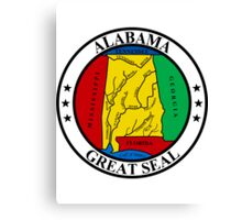 Alabama | State Seal | SteezeFactory.com Canvas Print