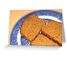 Come join me in some ginger cake! Greeting Card