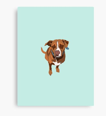 Light Blue Puppy Canvas Print