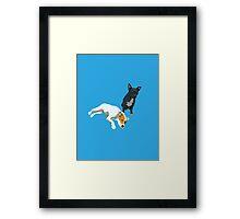 Bright Blue Puppies Framed Print