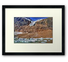 Angel Glacier Framed Print