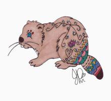 Beaver in Sharpie by JasmineMDeLeon