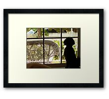 May I go out to play? Framed Print