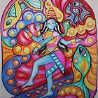 Shiva Surfing in Pastel by signaturelaurel