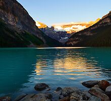 Golden Sunrise, Lake Louise, Alberta Canada by bevanimage