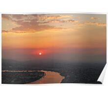 Sunset on the Brisbane River Poster