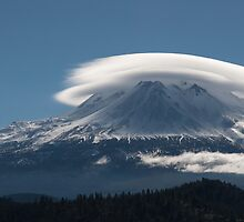 Altocumulus Lenticularis Over Mt Shasta by RubenGarciaJr