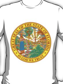 Florida Sunshine | State Seal | SteezeFactory.com T-Shirt