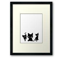 Black Cat Horror Framed Print