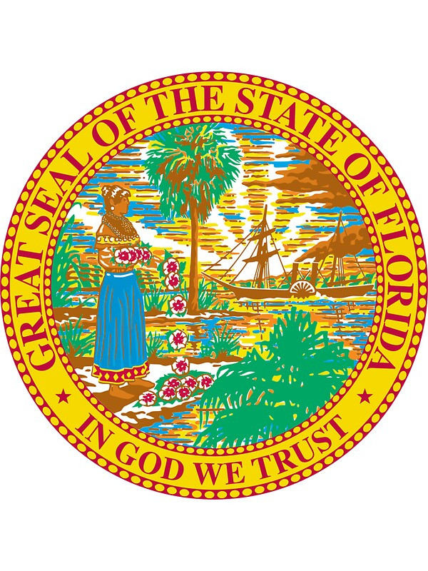 Florida State Seal Colouring Pages