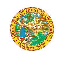 Florida Bricks | State Seal | SteezeFactory.com Photographic Print