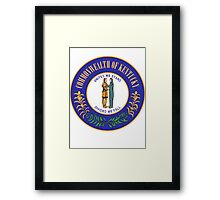 Kentucky Pride | State Seal | SteezeFactory.com Framed Print