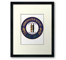 Kentucky   State Seal   SteezeFactory.com Framed Print