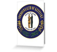 Kentucky | State Seal | SteezeFactory.com Greeting Card
