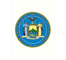 New York | State Seal | SteezeFactory.com Art Print