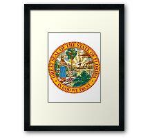 Florida   State Seal   SteezeFactory.com Framed Print