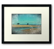 surfers at lagoon 1 Framed Print