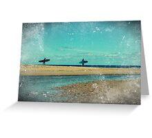 surfers at lagoon 1 Greeting Card