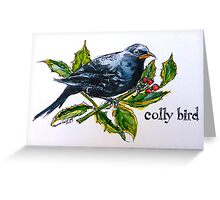 Colly. ('Four colly birds'...) The 'Twelve days of Christmas'. Greeting Card