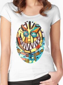 smiley face & the T Women's Fitted Scoop T-Shirt
