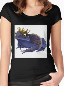 Psychedelic Blue Frog Women's Fitted Scoop T-Shirt